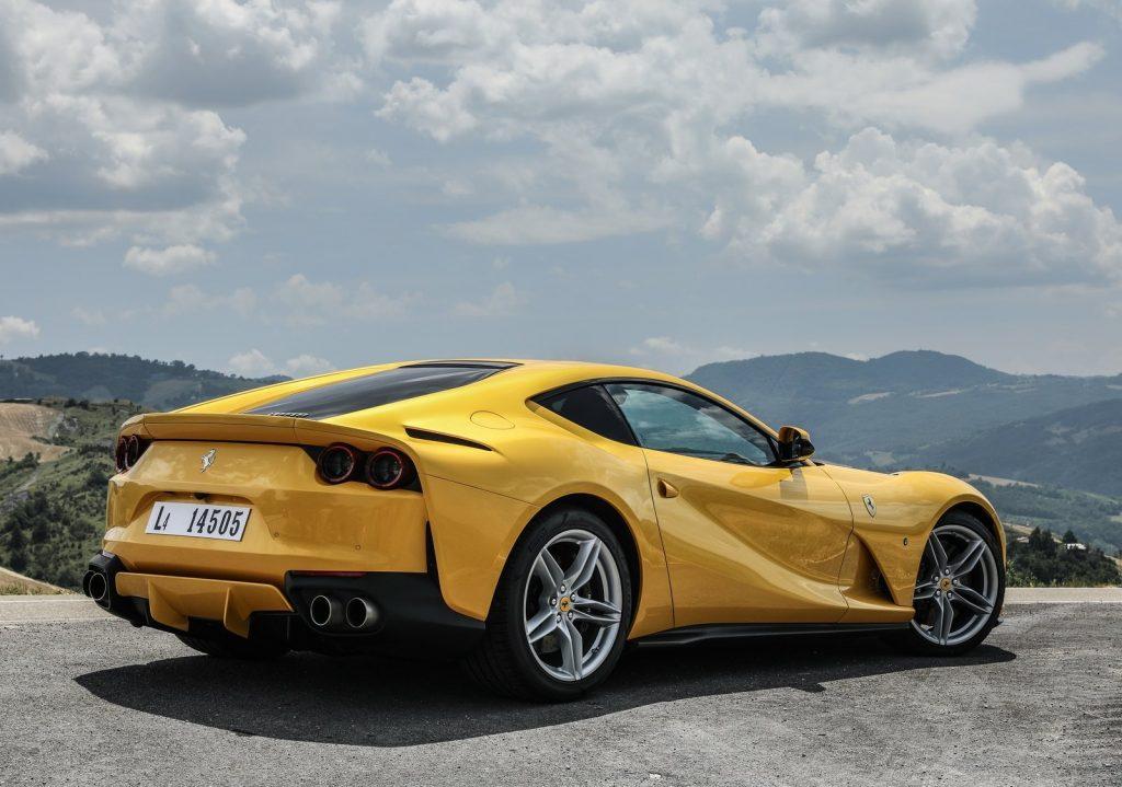 An image of a Ferrari F12 Superfast outdoors.