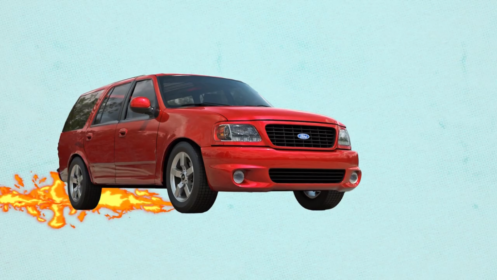 Animation of the long-lost Ford SVT Thunder