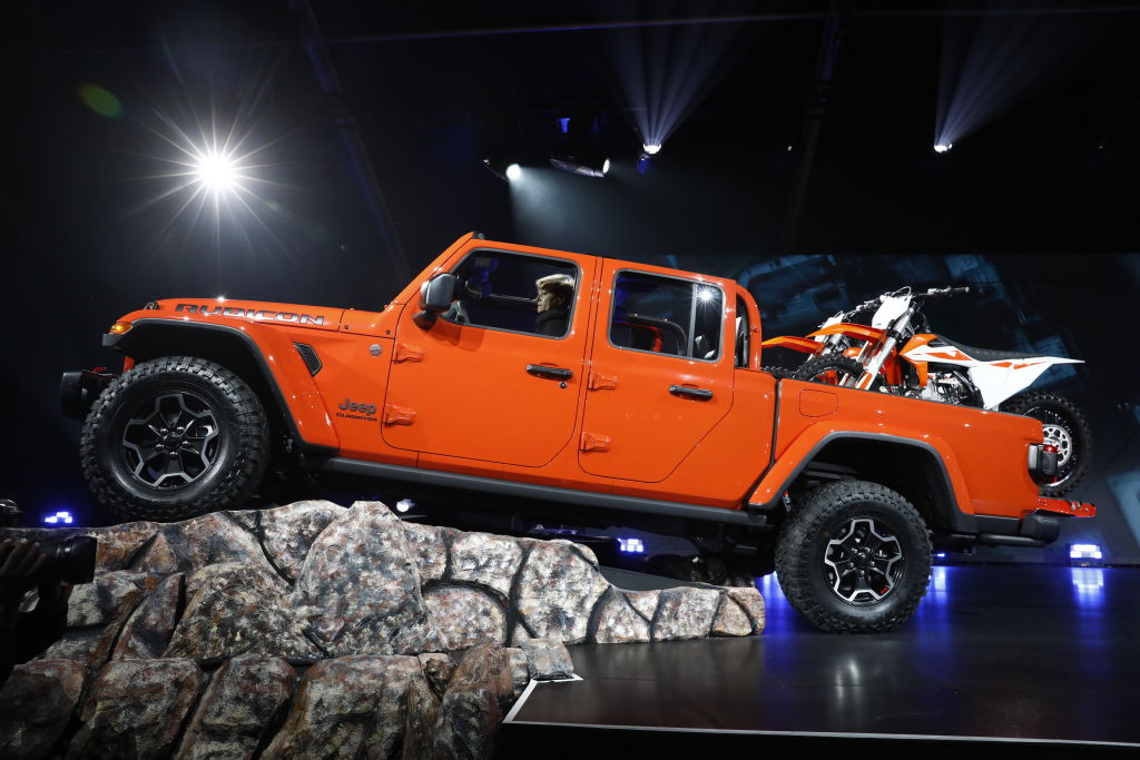 A 2020 Jeep Gladiator on display