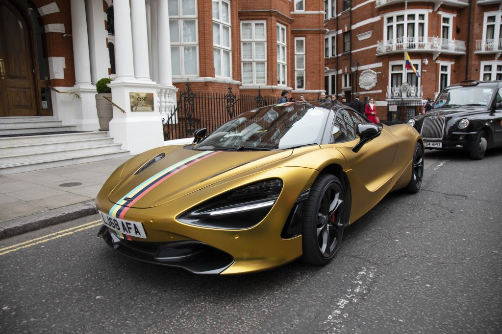 An image of a McLaren 720S parked outside.