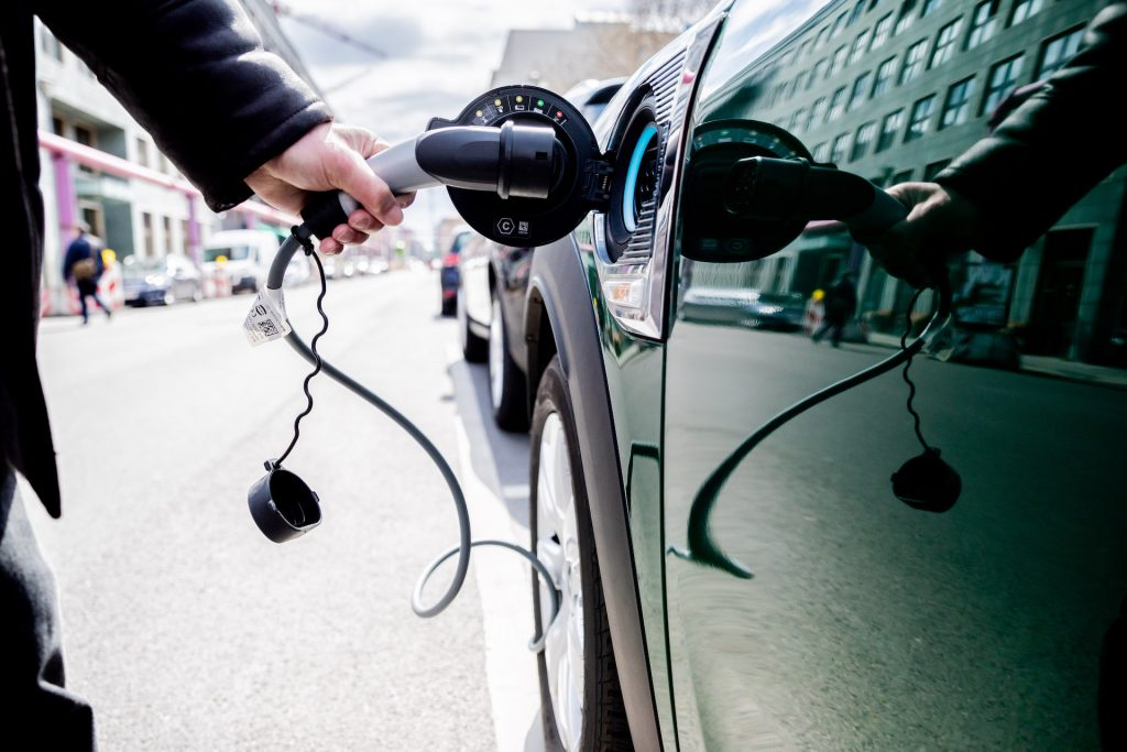 An image of an electric car charger.