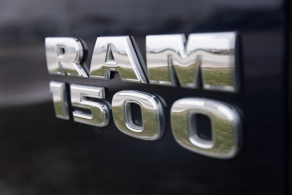 A Ram 1500 Diesel truck badge