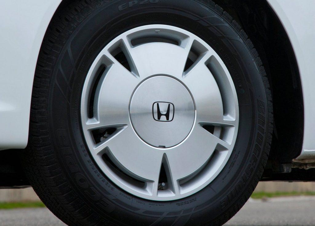 A wheel on the 2012 Honda Civic HF