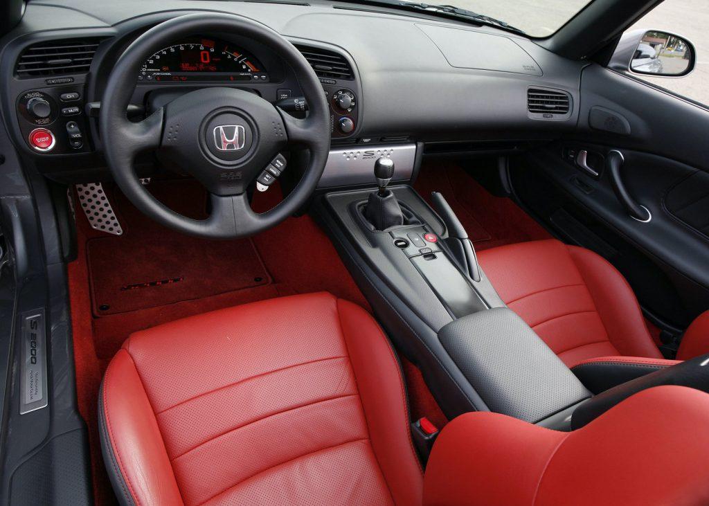2008 Honda S2000 red interior