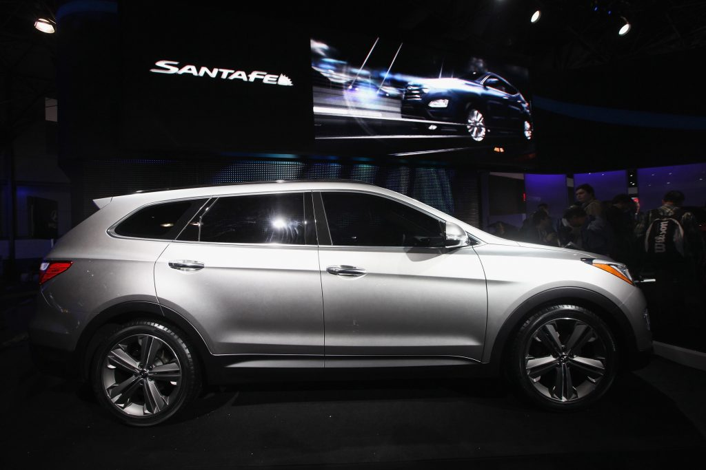 2013 Hyundai Santa Fe at the New York autoshow