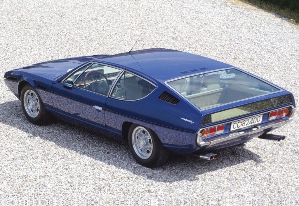 An image of a Lamborghini Espada parked outside.