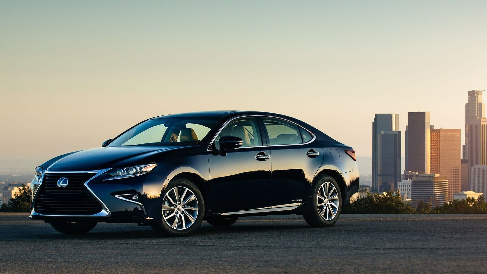 An image of a Lexus ES outdoors, one of Consumer Reports' best used hybrid cars.