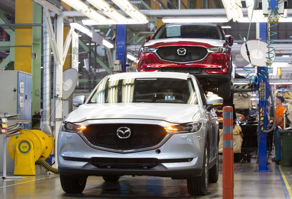 The Mazda CX-5 on the assembly line