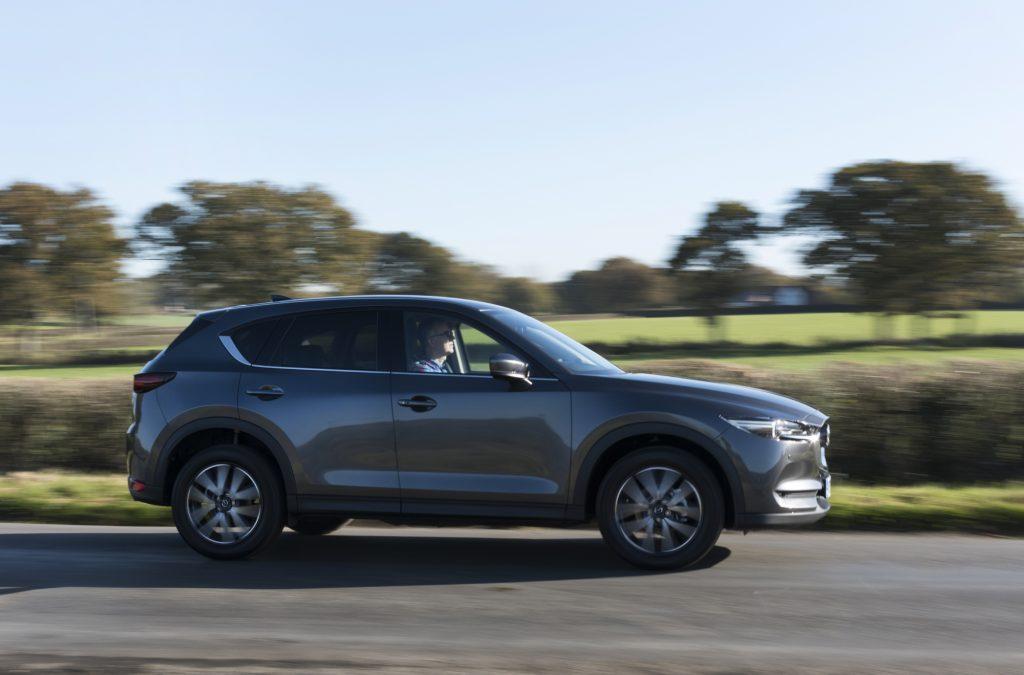 A Mazda CX-5 on the move