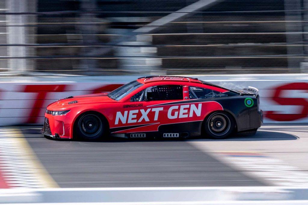 NASCAR Next-Gen race car side view