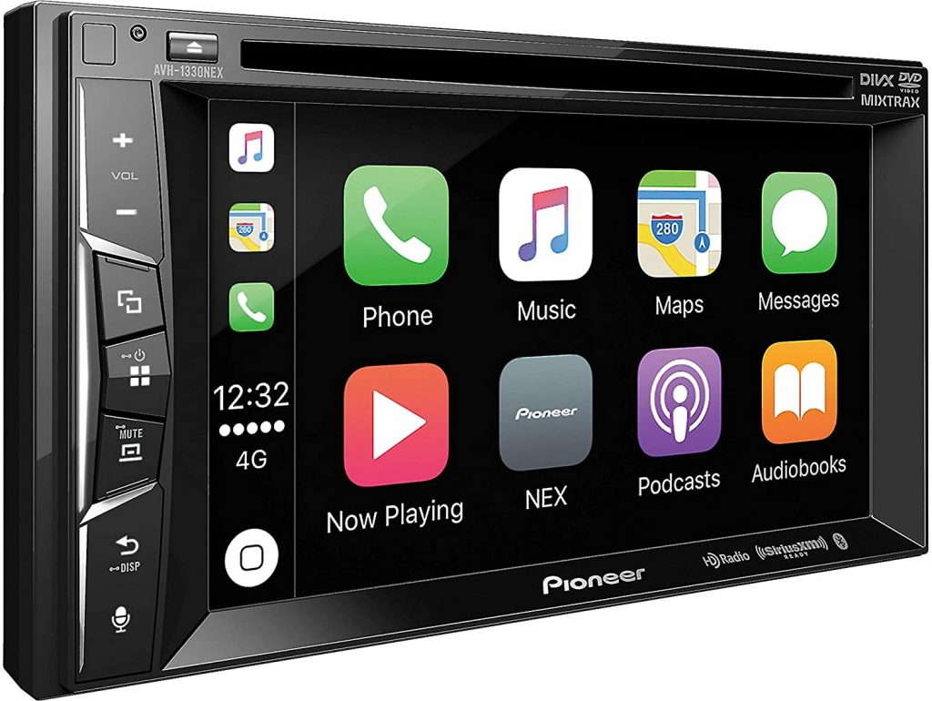 A shot of the Pioneer AVH-1330 NEX head unit that's HD Radio compatible