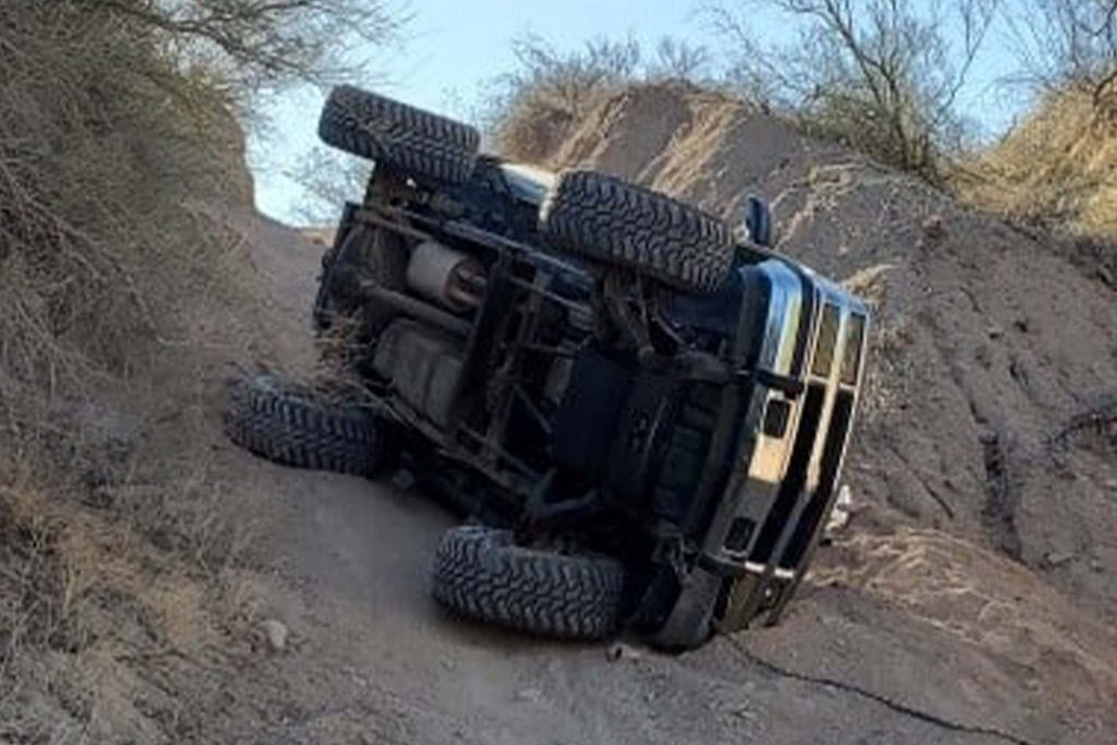 accident at thePirates Off-Road illegal party