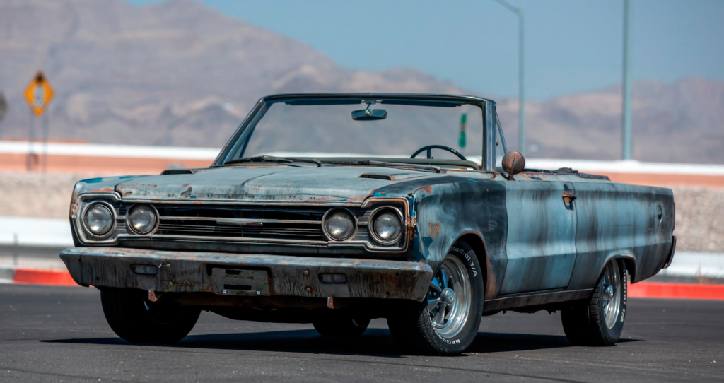 Tommy Boy Plymouth GTX convertible being auctioned