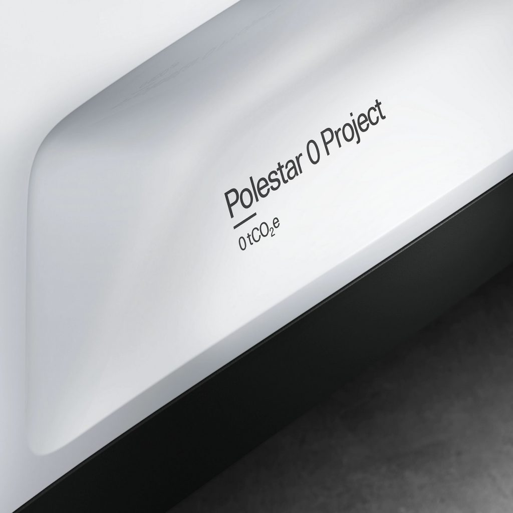 The white Polestar 0 Project declaration for carbon neutrality