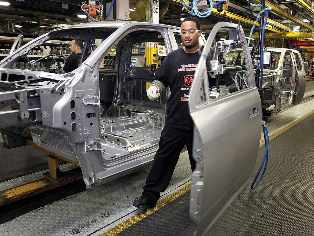 Ram truck assembly worker