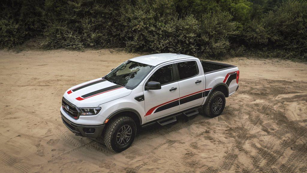 A 2021 Ranger Tremor XLT trim in the dirt