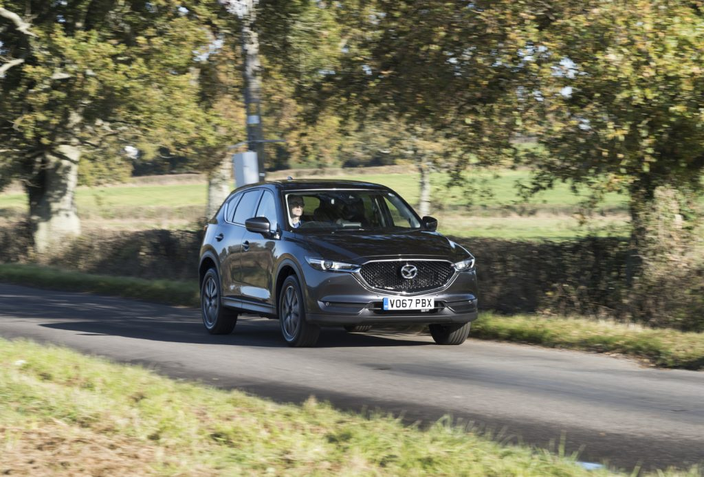 A 2018 Mazda CX-5 on the road