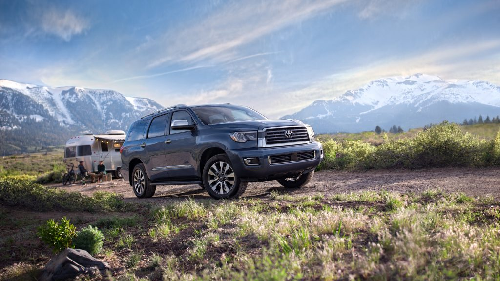 The 2021 Toyota Sequoia on a camping trip