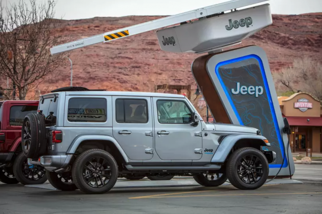 2021 Jeep Wrangler 4xe Charging Station