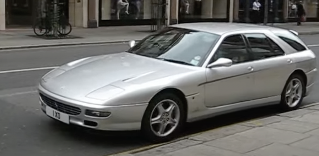 An image of a Ferrari 456 GT Venice station wagon out in London.