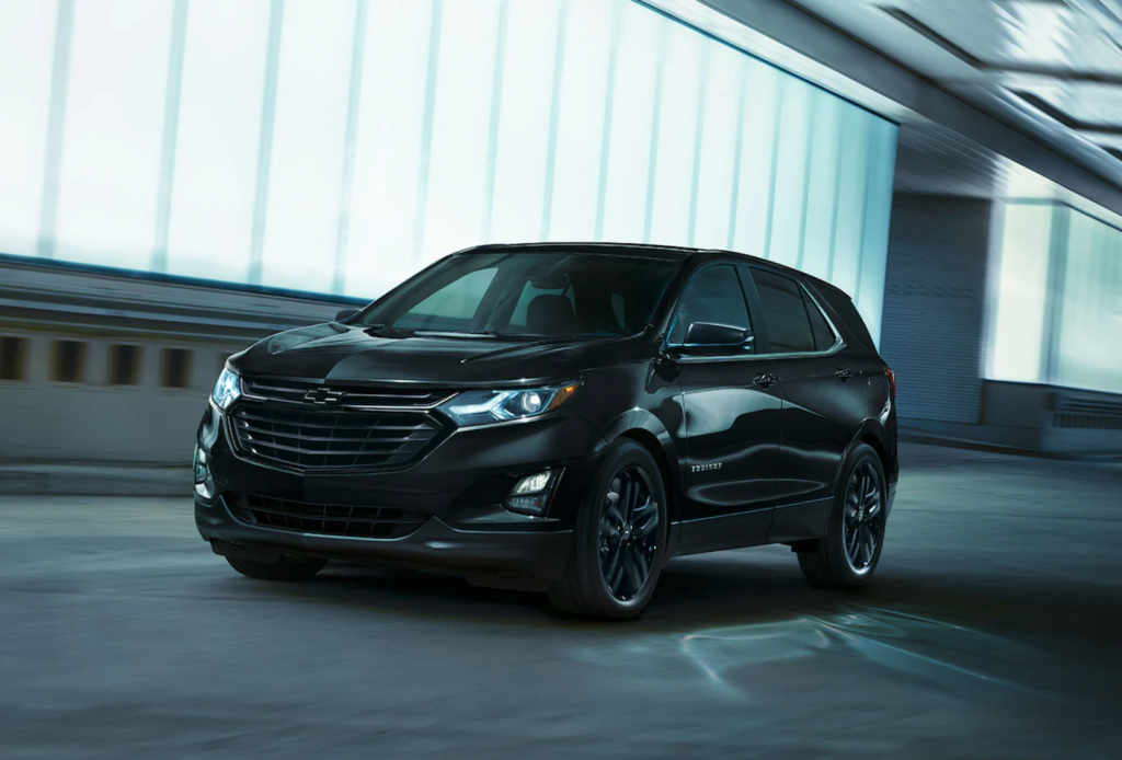 The 2021 Chevy Equinox driving in a tunnel