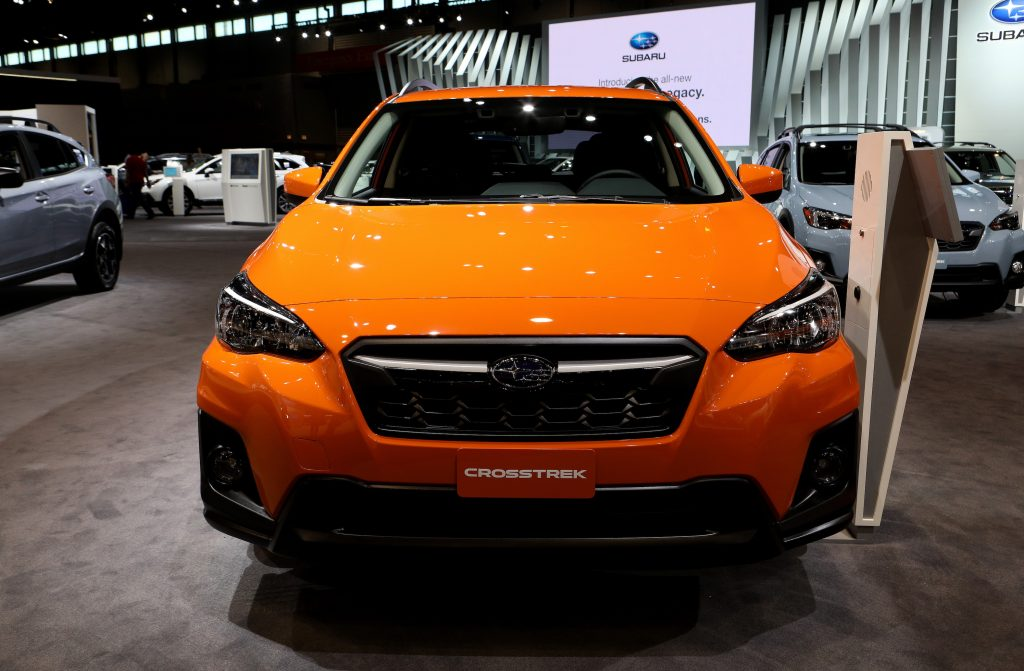 2019 Subaru Crosstrek is on display at the 111th Annual Chicago Auto Show at McCormick Place