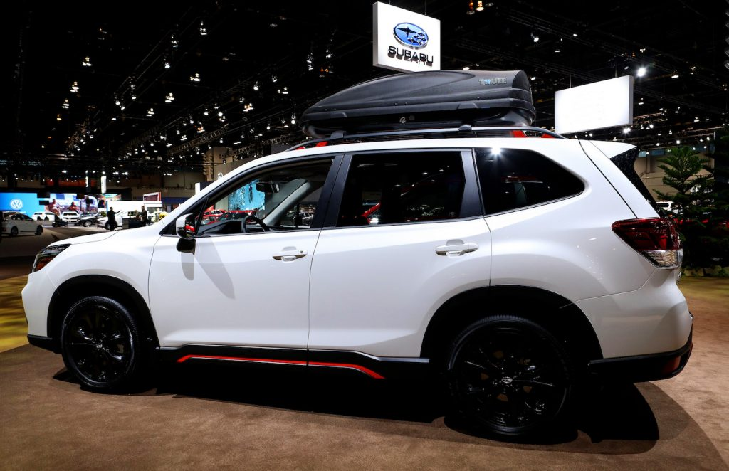 The Subaru Forester Sport, a compact SUV, pictured at the 2020 Chicago Auto Show