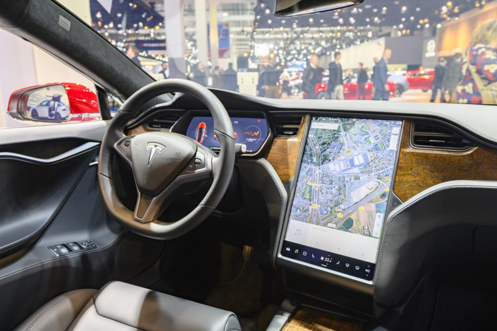 Tesla uses Tesla navigation to help guide you
