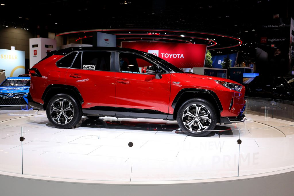 2021 Toyota Rav4 Prime is on display at the 112th Annual Chicago Auto Show