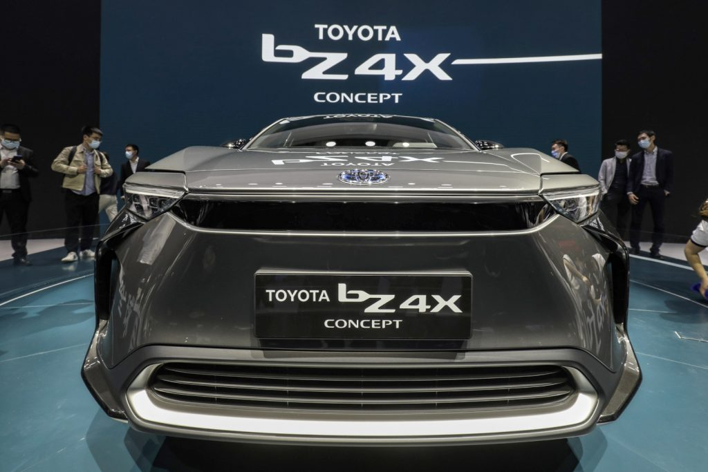 "The Toyota Motor Corp. ""Beyond Zero"" bZ4X electric vehicle"