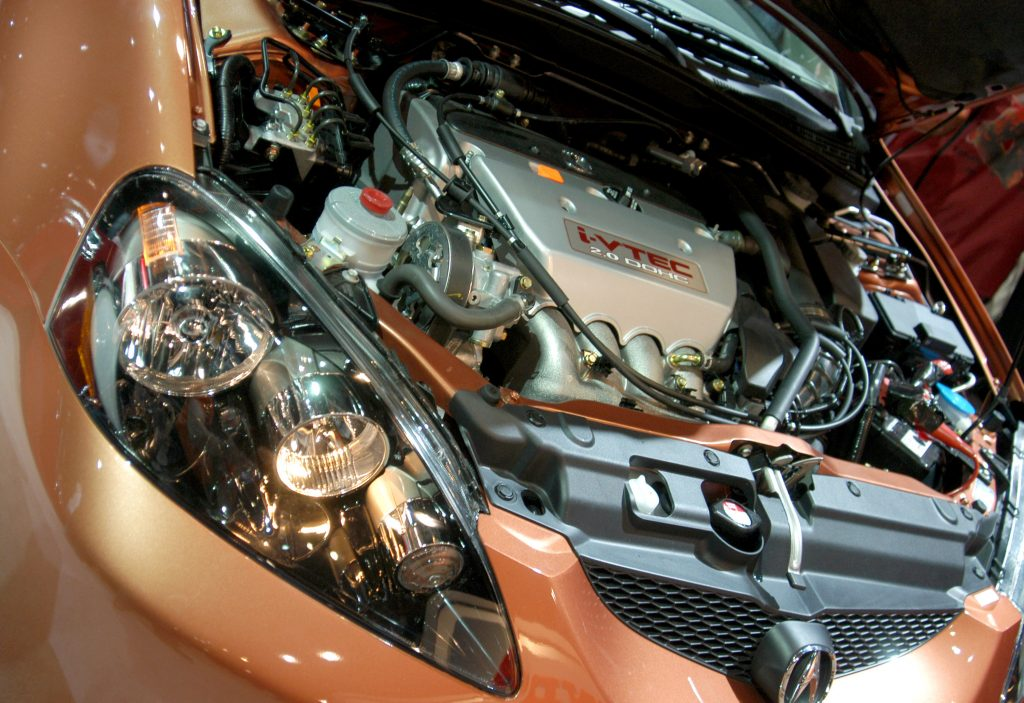 The i-VTEC engine of the Acura RSX JDM car