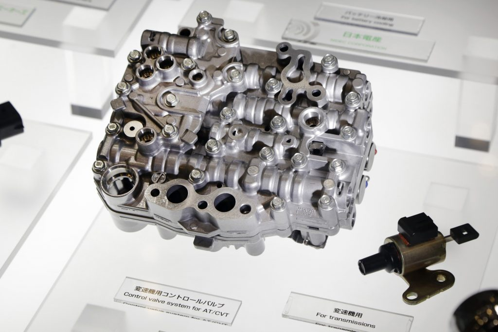 A CVT control valve system on display