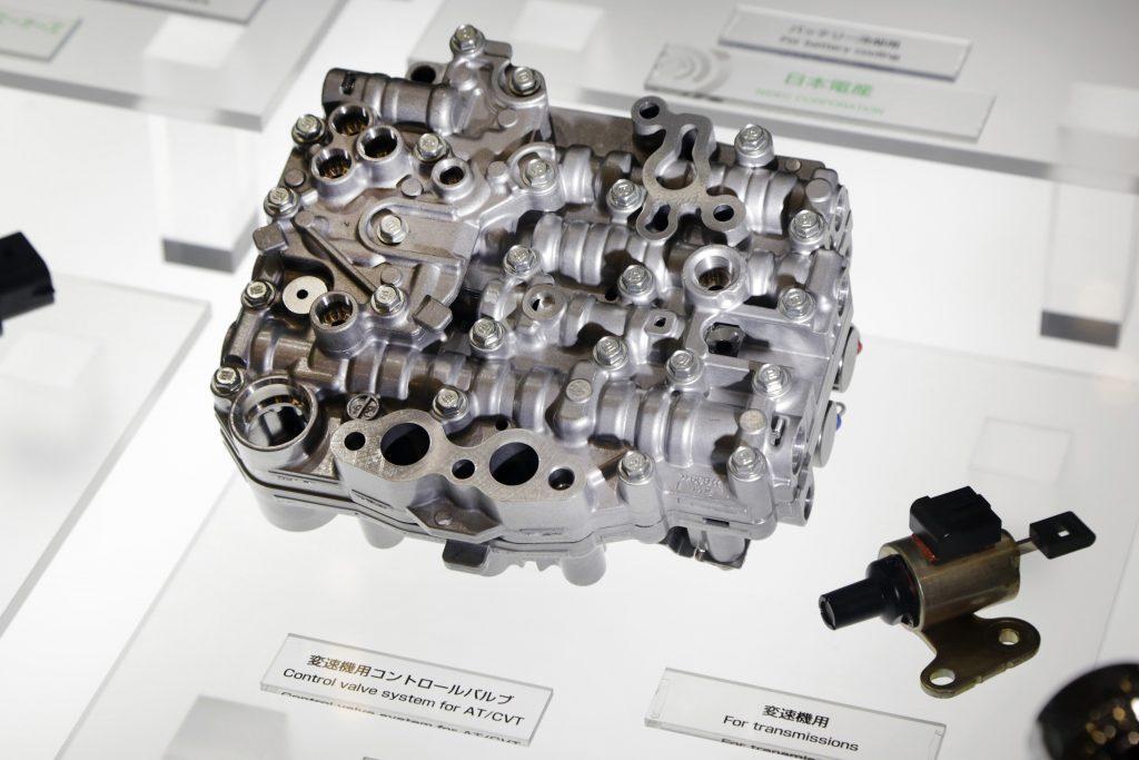 A CVT control valve system on display