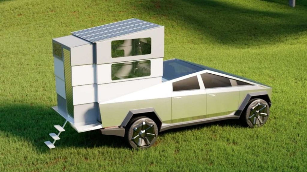 The Tesla Cybertruck with Cyberlandr Camper