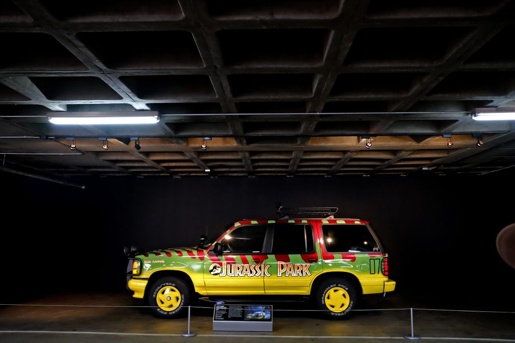 The famous Ford Explorer from Jurassic Park