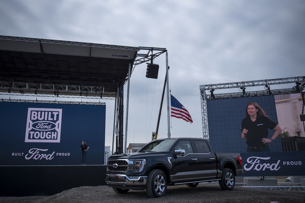 A 2021 Ford F-150 King Ranch at the Ford Built for America event
