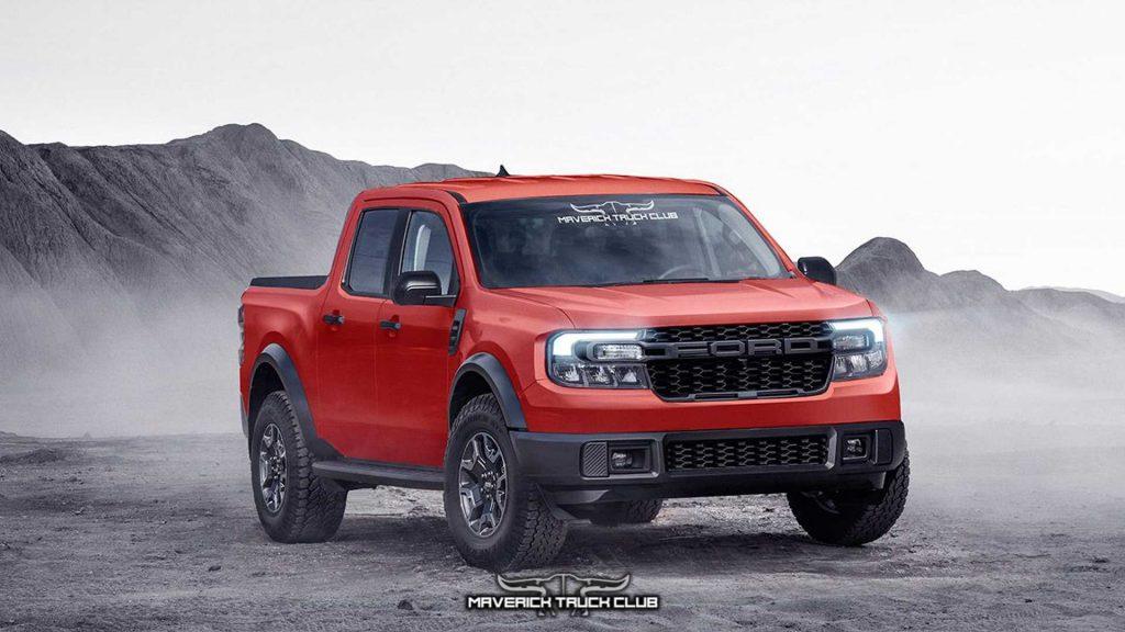 2022 Ford Maverick Raptor Rendering
