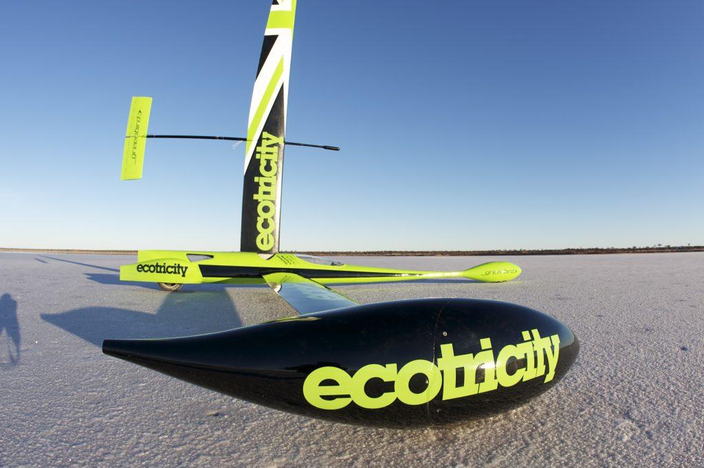 The world's fastest wind-powered vehicle, The Greenbird