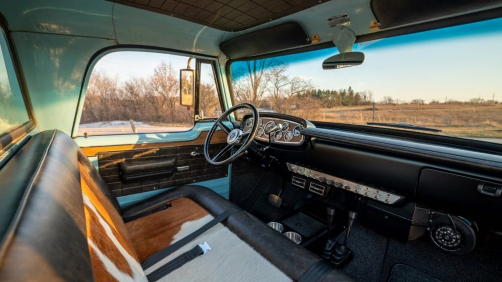 1968 Dodge Power Wagon interior. This is basically a Ram TRX in a vintage Dodge pickup truck disguise