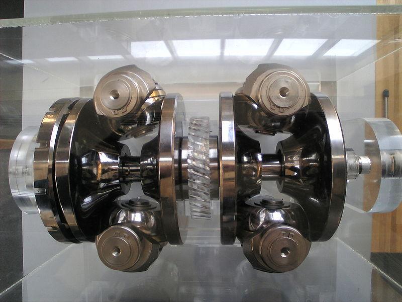 A Nissa toroidal CVT transmission on display
