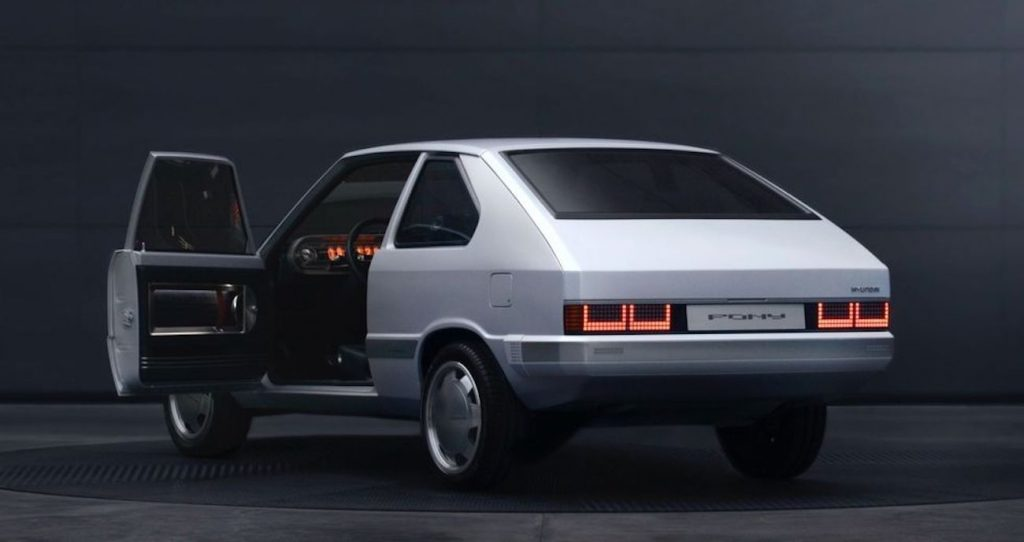 Hyundai Pony Concept EV is a restomod dream that wears brushed aluminum instead of paint