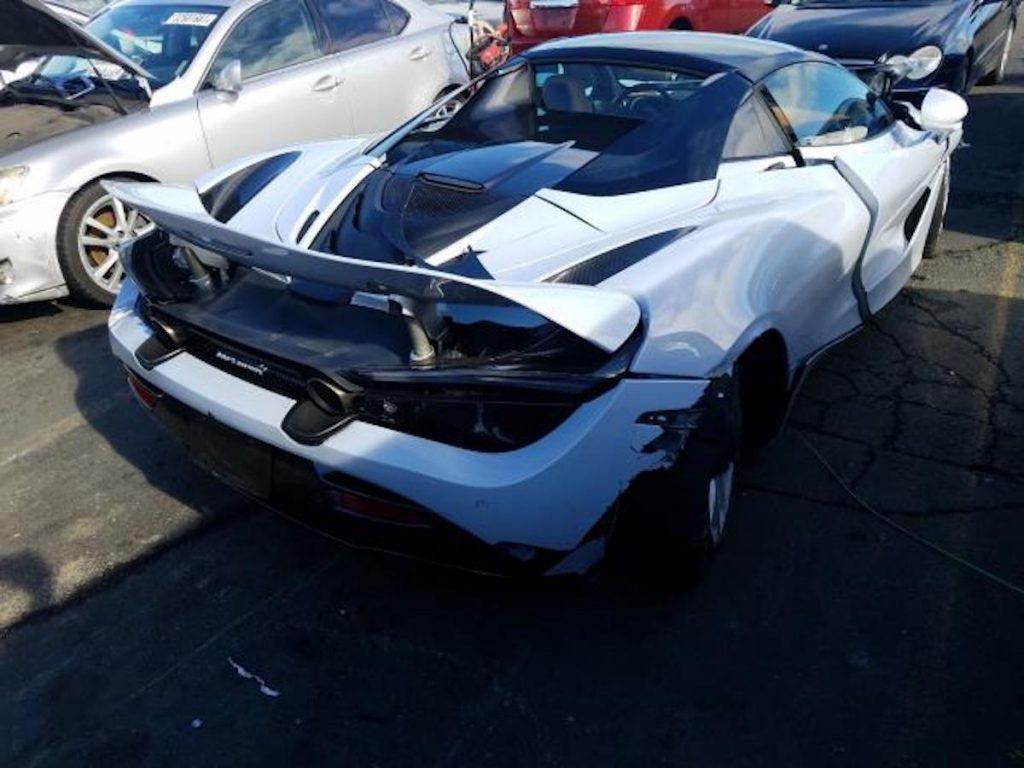 wrecked supercar 2020 McLaren 720S Spider supercar salvage