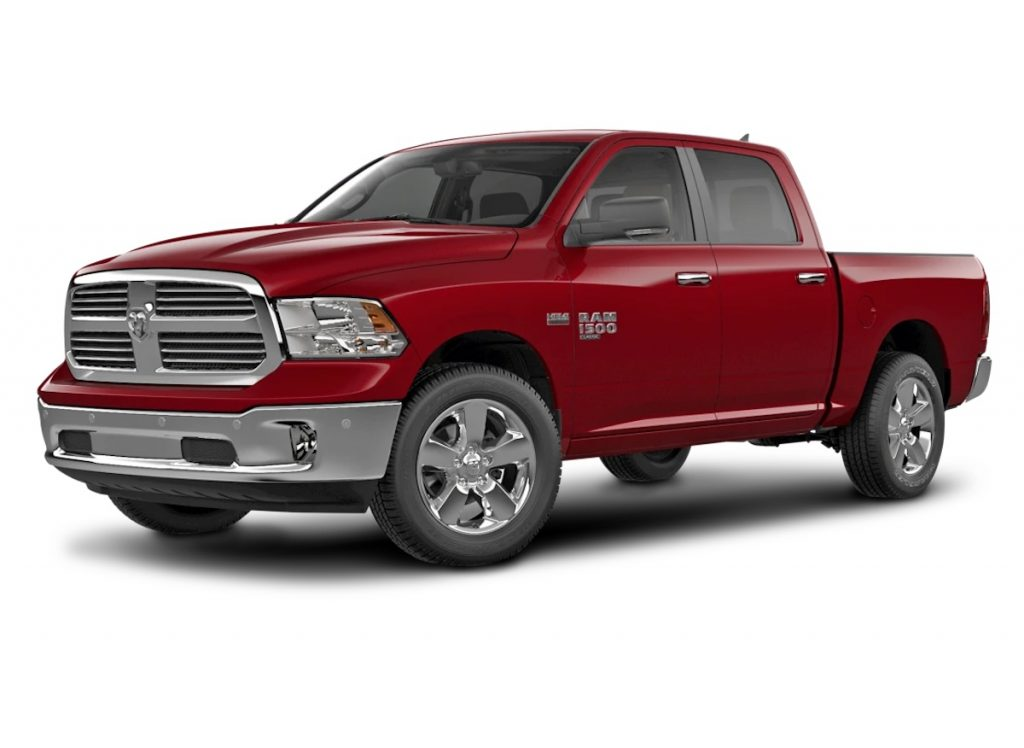 2021 Ram 1500 Classic in red against a white background from the Ram 1500 classic review from Consumer Reports