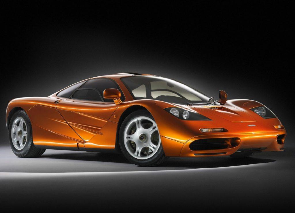 An orange 1993 McLaren F1