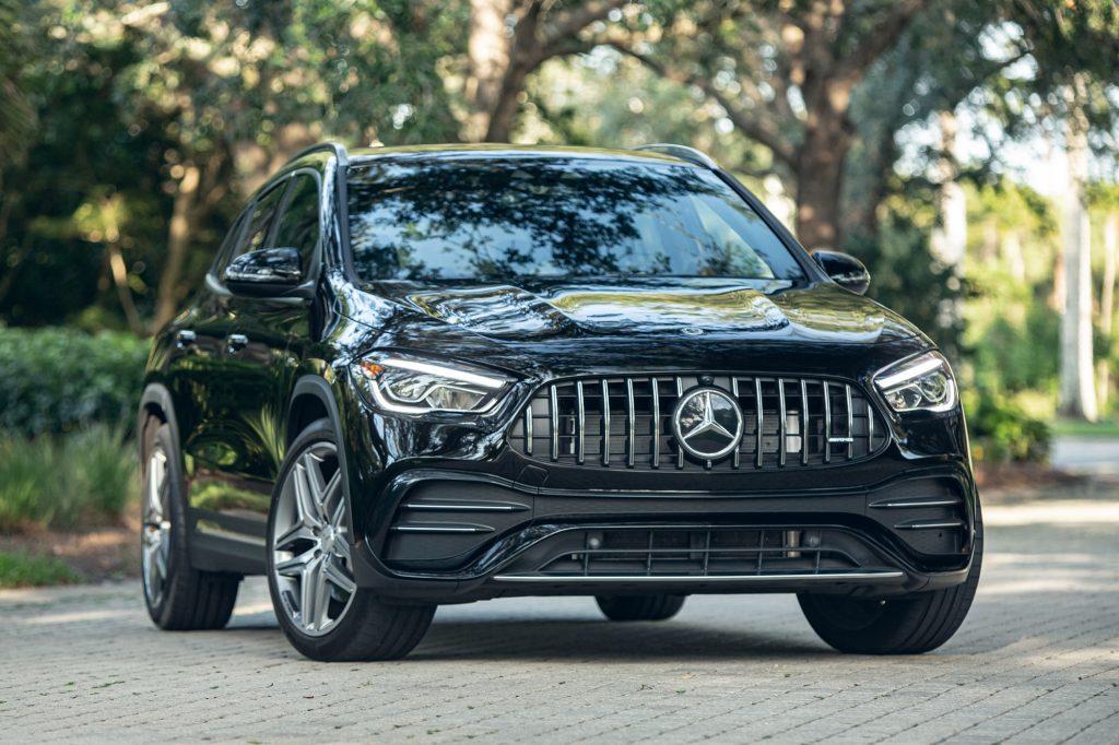 A black 2021 Mercedes-AMG GLA 35