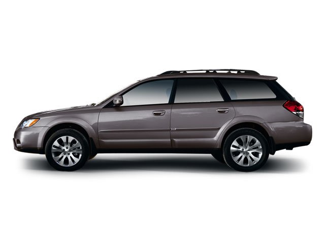 side view press photo of the 2009 Subaru Outback against a white backdrop