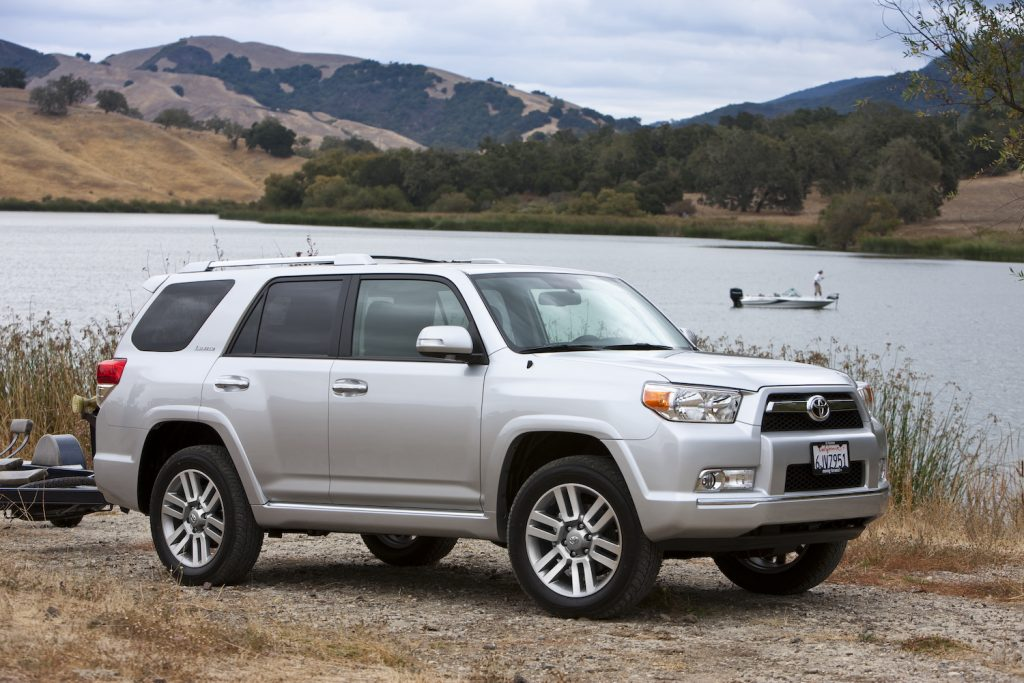 A silver 2012 Toyota 4Runner, one of the best used SUVs under $20,000