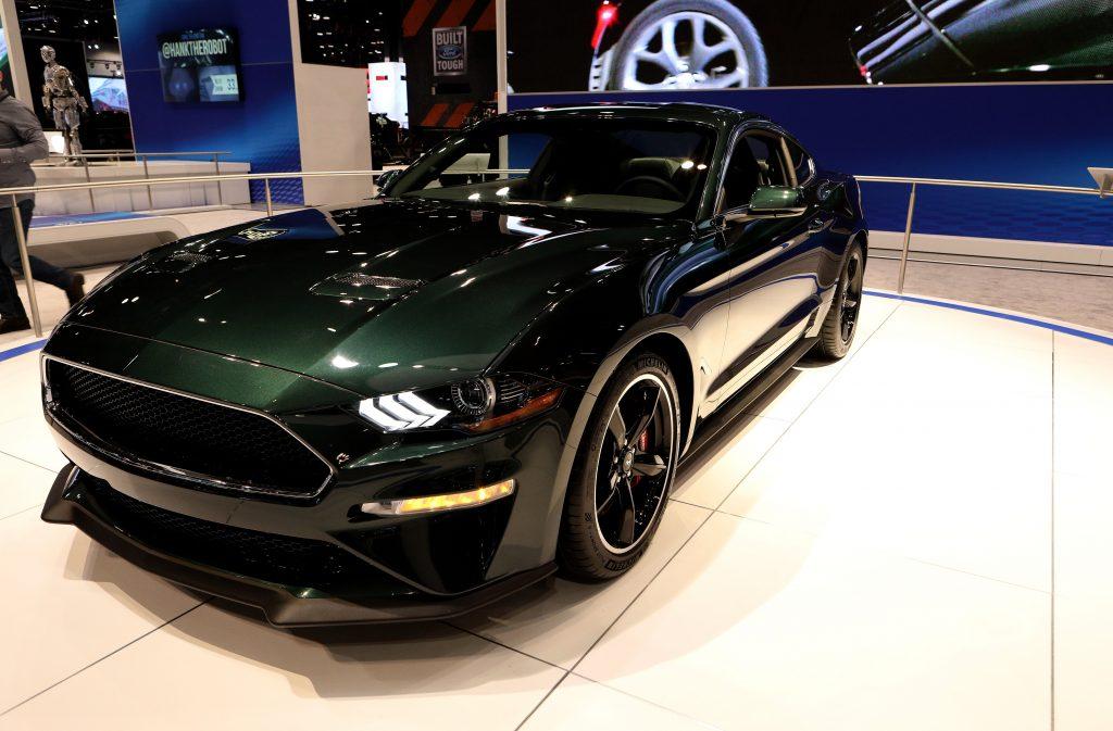 2019 Ford Mustang Bullitt on display