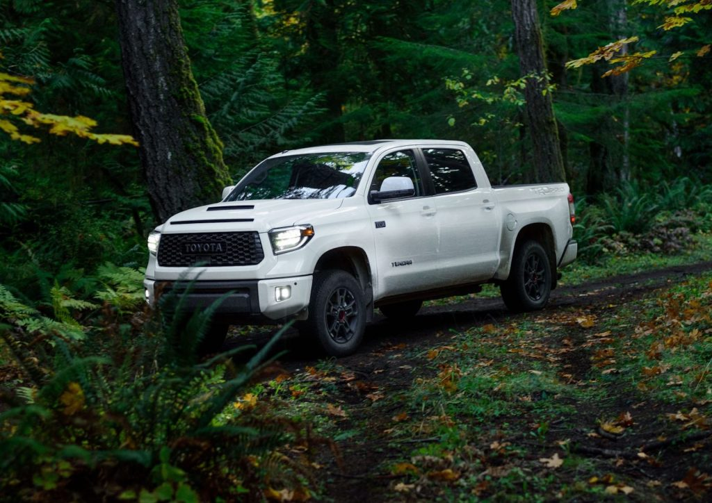 An image of a Toyota Tundra outdoors.