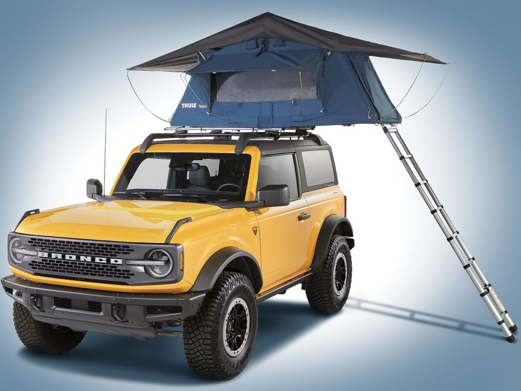 The Thule roof tent is an extremely cool Bronco accessory